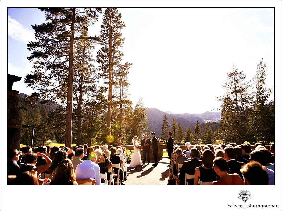 wedding ceremony Resort at Squaw Creek