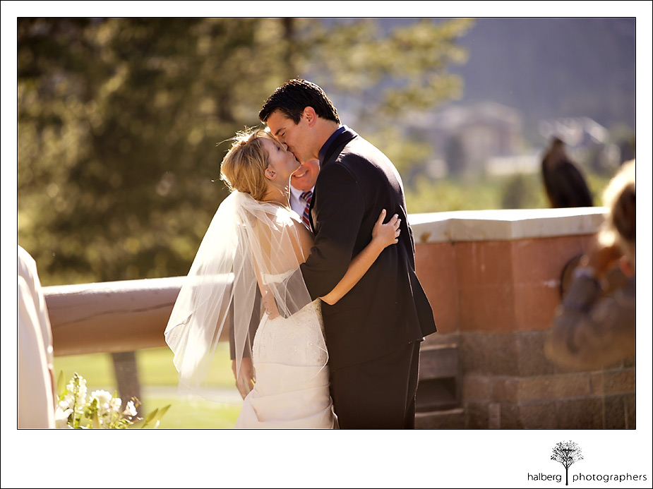 first wedding kiss Resort at Squaw valley