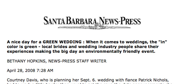 Santa Barbara Green Weddings Story