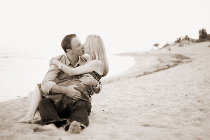 Michael and Jenny's engagement session in Malibu