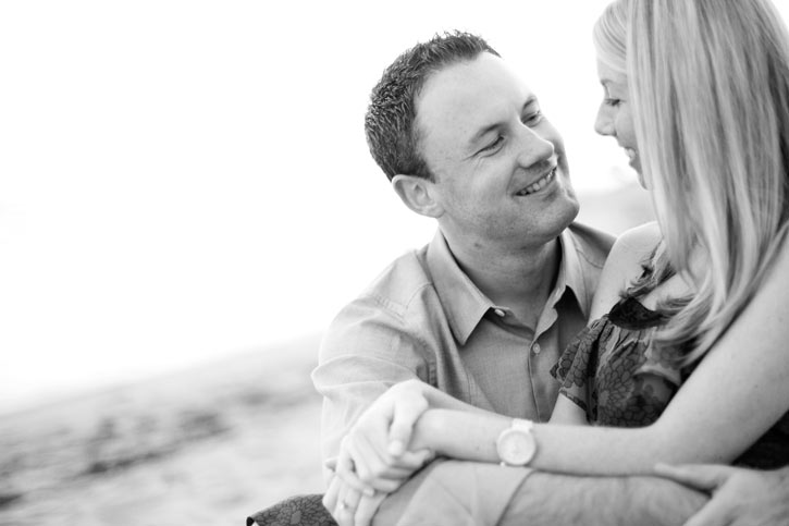 Sunset Restaurant Wedding engagement session for Michael and Jenny in Malibu