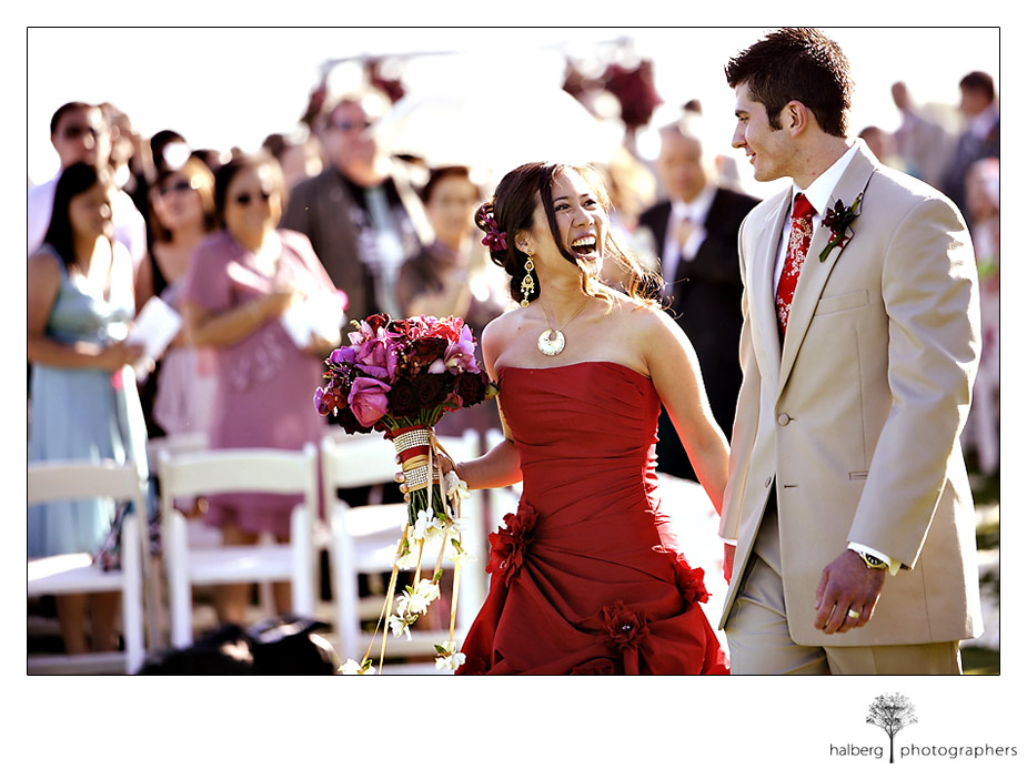 Pure emotion wedding smiles in Montecito