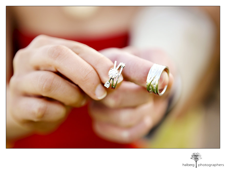 Wedding rings at Montecito country club