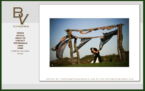 Bon Vivant Cinema Featured, Orange County Wedding Photographers