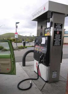 Gas Pump still attached to car, oops
