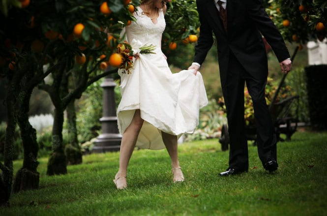 Legs, Heals, Orange Trees, Madrona Manor, Brian and April