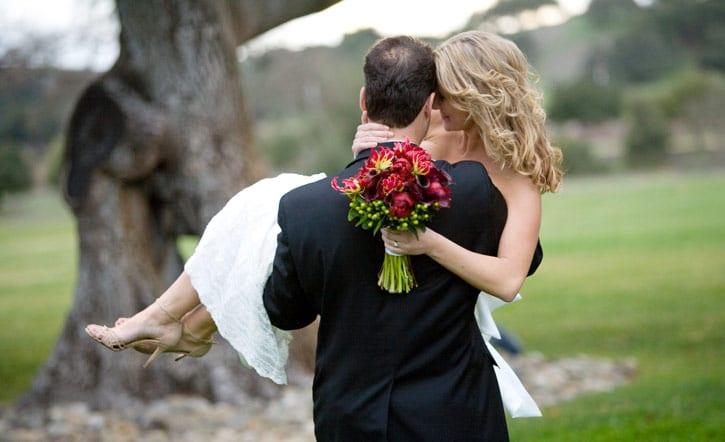 Love was in the air at Josh and Brady's Firestone Winery in Santa Ynez