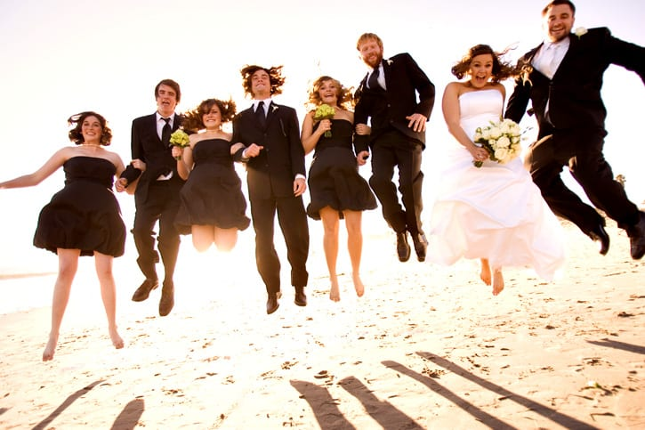Wedding Photographer and the jump shot with Kristen and Nate in Santa Barbara