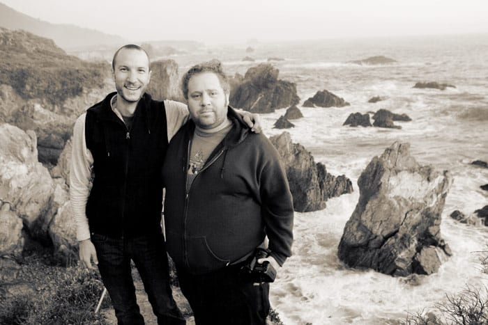Stephen and Peter on the Big Sur Coast