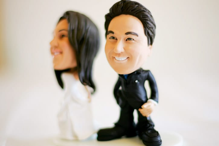seriously, the coolest wedding cake topper ever in Santa Barbara