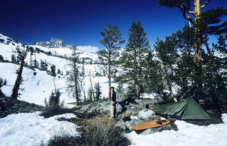 lots of snow and ice on the John Muir Trail