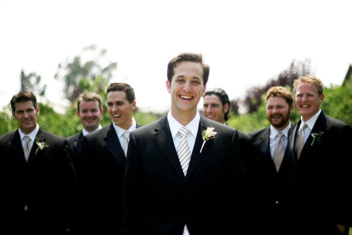 Carneros Inn wedding groomsmen
