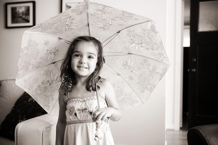 Rya's portrait with tinkerbell umbrella