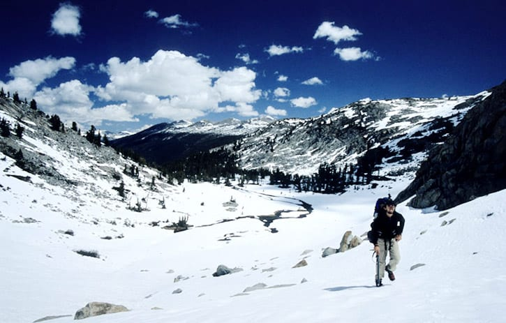 John Muir Trail and one of many high altitude passes