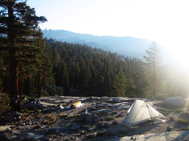 The Gossamear Gear The One tent on the John Muir Trail