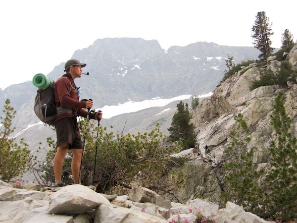 smoking the pipe on our John Muir Trail Through Hike