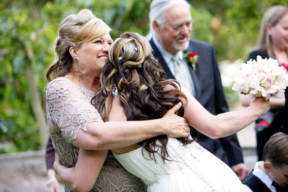 Amber hugs her mom at Eucalyptus Lane