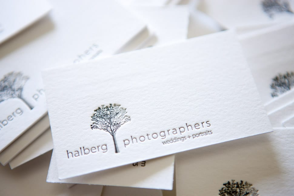letterpress business cards Santa Barbara Wedding photographers