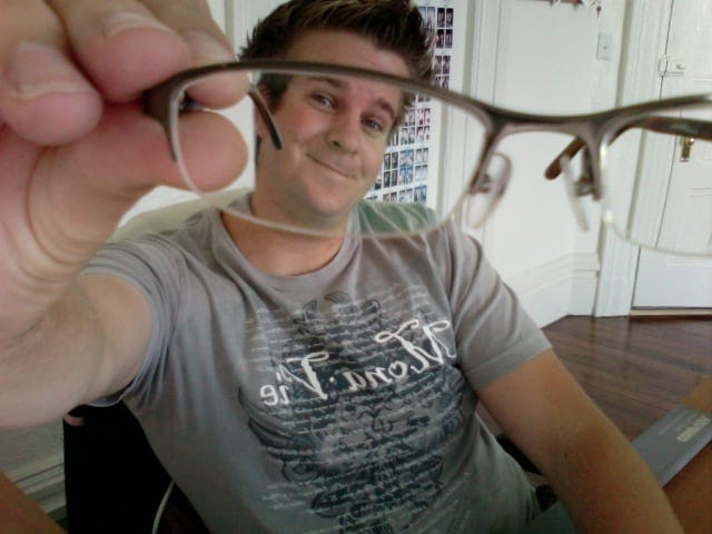 Me from the front of my eye glasses