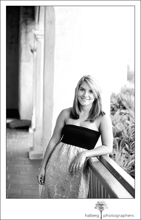candace's senior portraits at the santa barbara mission