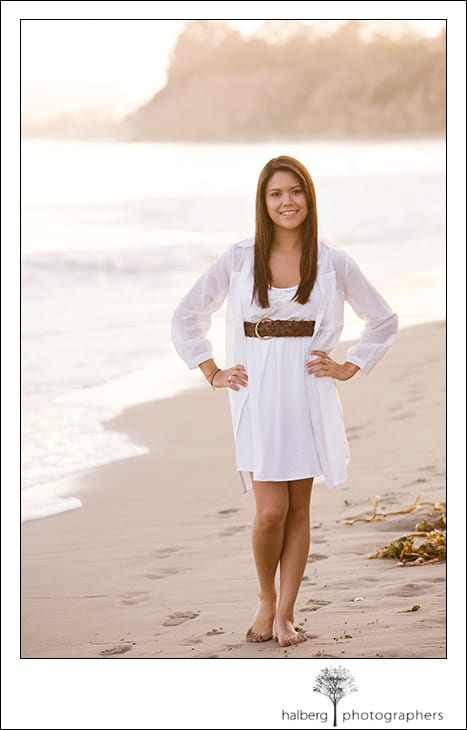 emily's senior portrait photographs in santa barbara