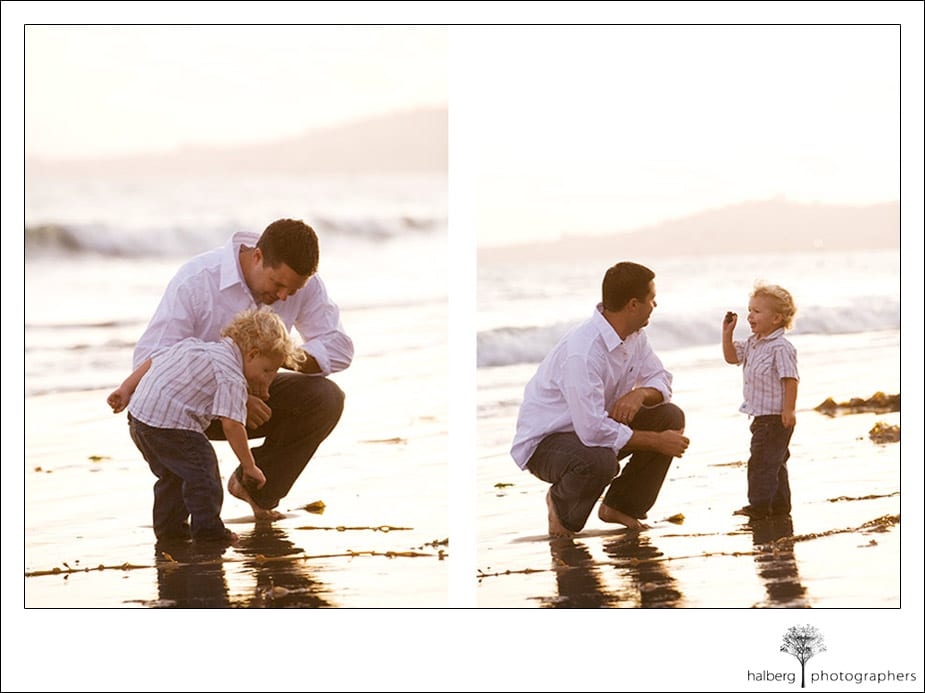Santa Barbara portraits for the Martinich family father and son