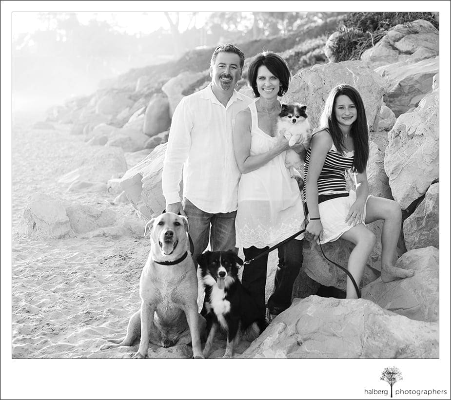 Santa Barbara portraits for the Gomez family
