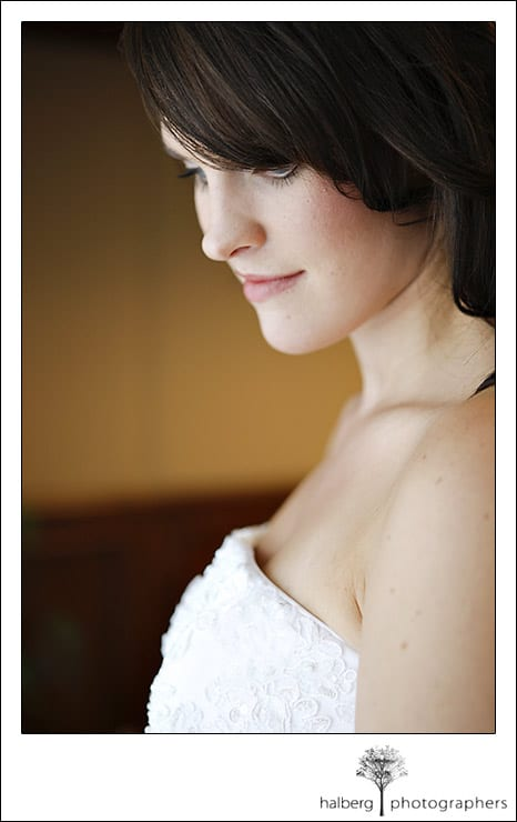 Darcy's bridal portrait at her Hotel Bellwether Wedding