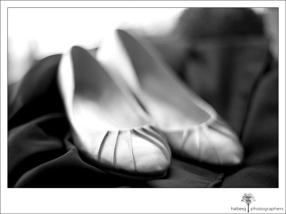 Darcy's wedding shoes at Hotel Bellwether