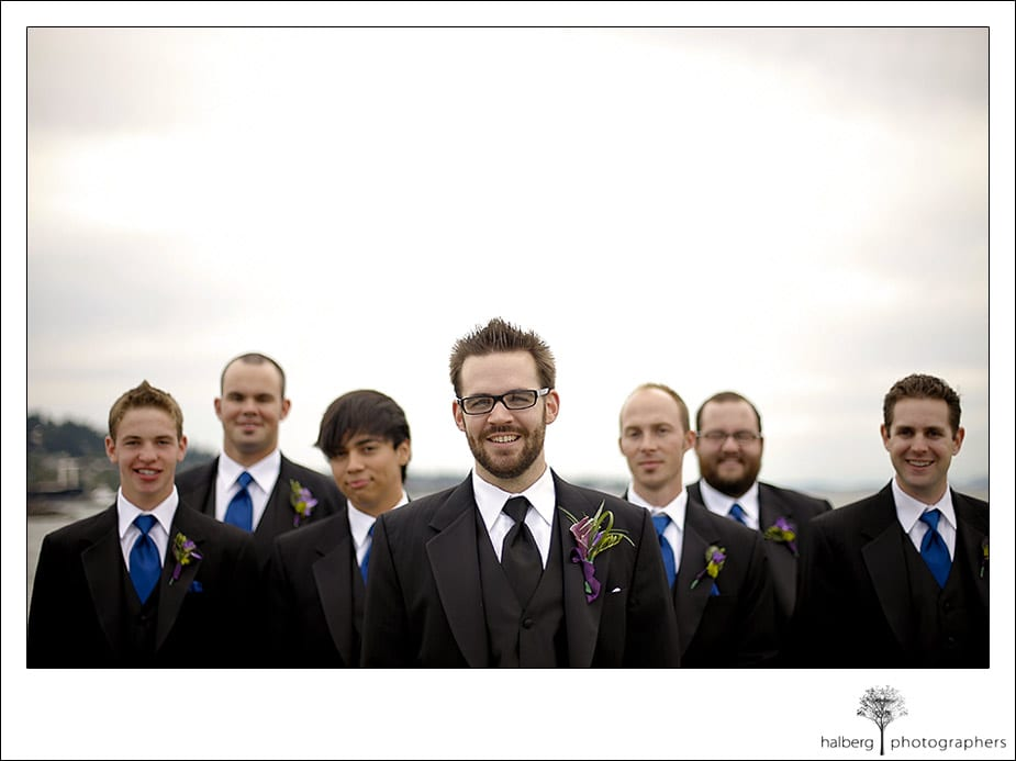 Portraits of groomsmen at Hotel Bellwether Wedding