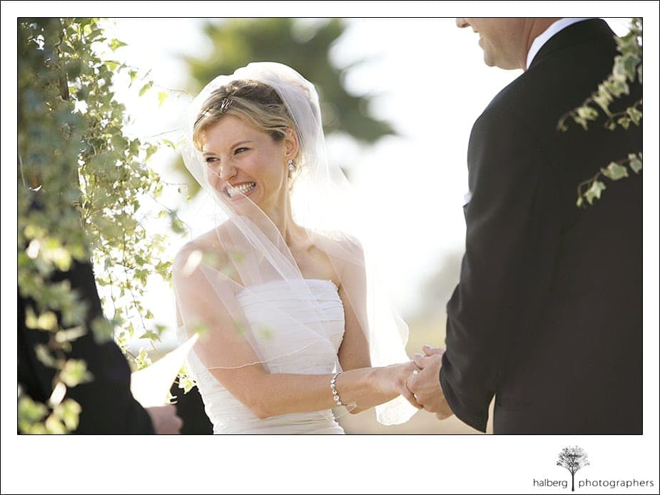 Victoria smiling at her Dos Pueblos Ranch Wedding