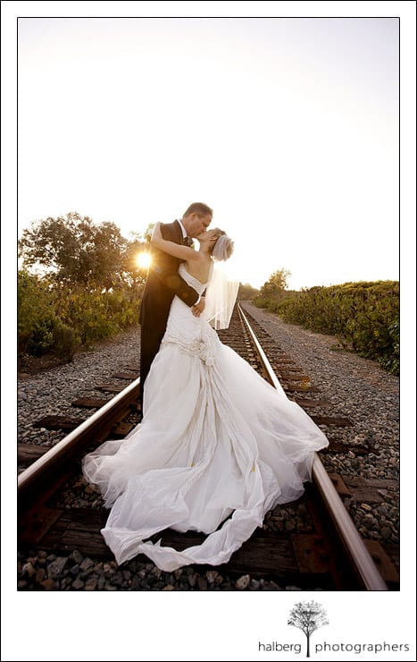 Jeff and Victoria Kissing after their Dos Pueblos Ranch Wedding