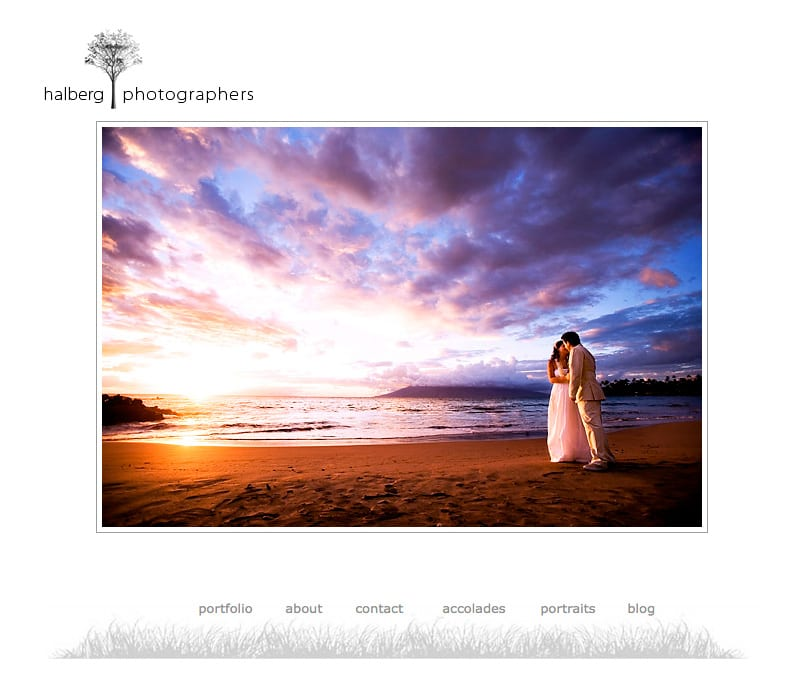 screen shot of maui beach wedding portraits