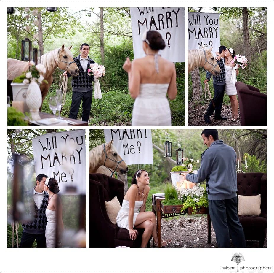guy proposes on one knee