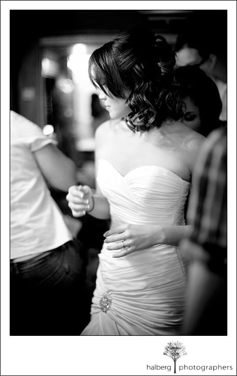 bride getting ready before her Earl Burns Japanese Garden wedding