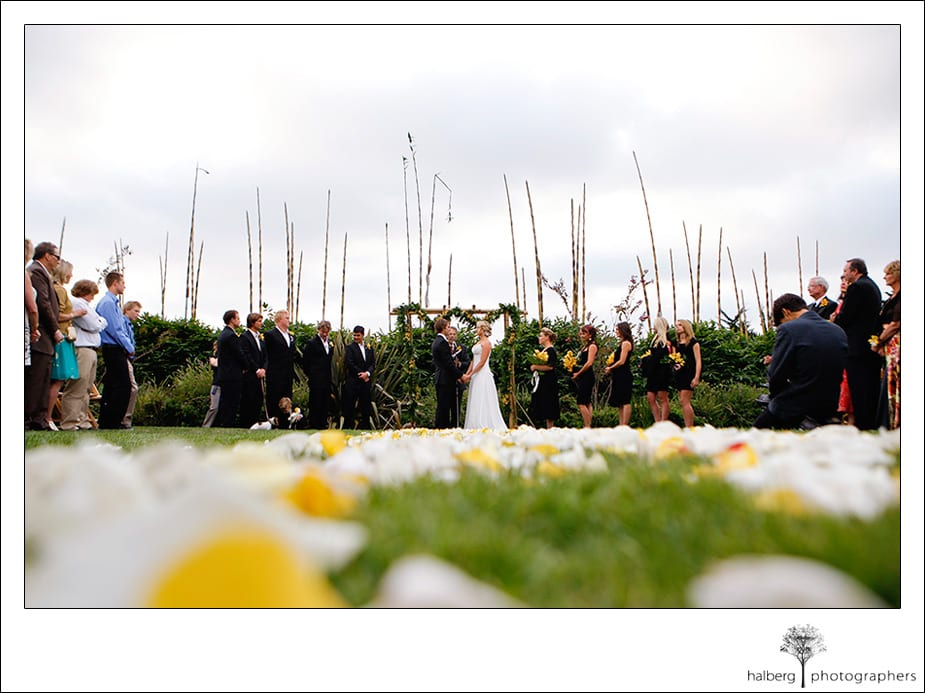 wedding ceremony at private Encinitas residence