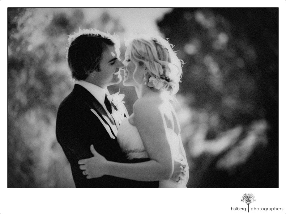 bride and groom about to kiss at Encinitas wedding