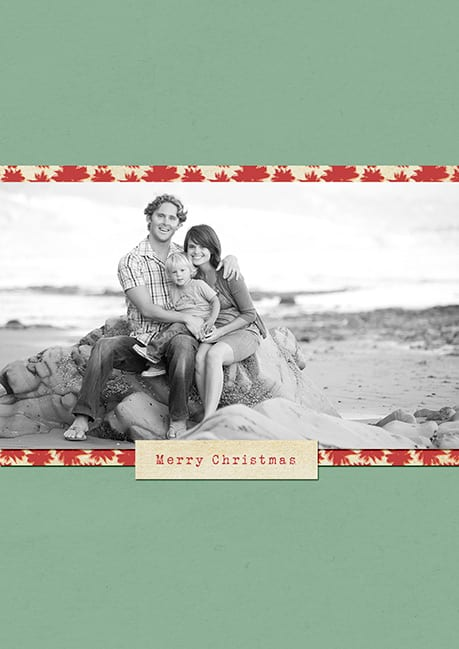 santa barbara family custom holiday card front