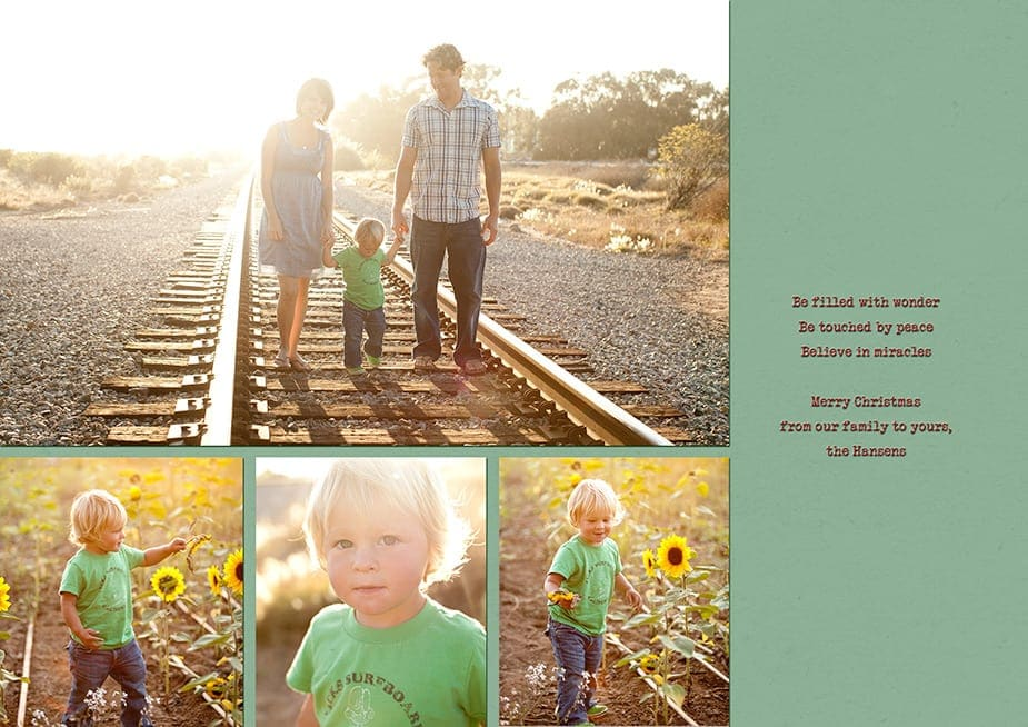 santa barbara family custom holiday card inside
