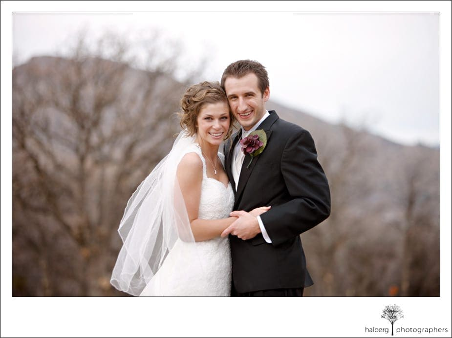 bride and groom portraits at their tehachapi wedding