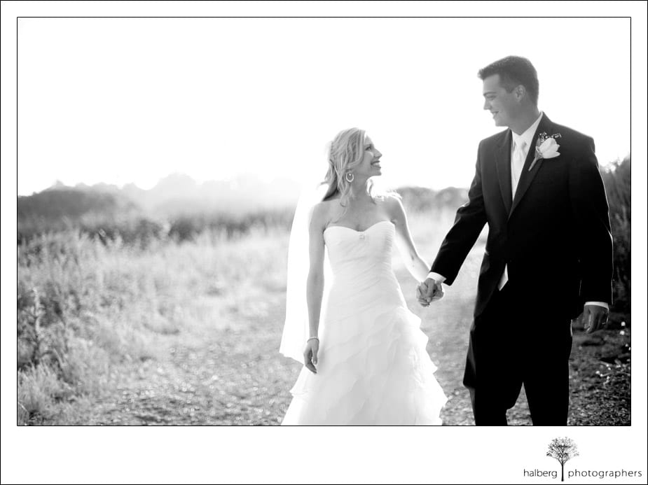 bride and groom portraits at stella mare's restaurant