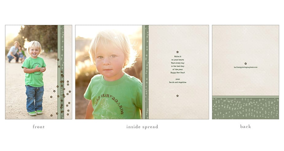 santa barbara portrait photographers custom photo holiday card