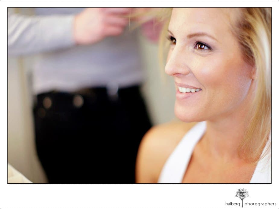 bride getting ready for her wedding at Charles Krug Winery