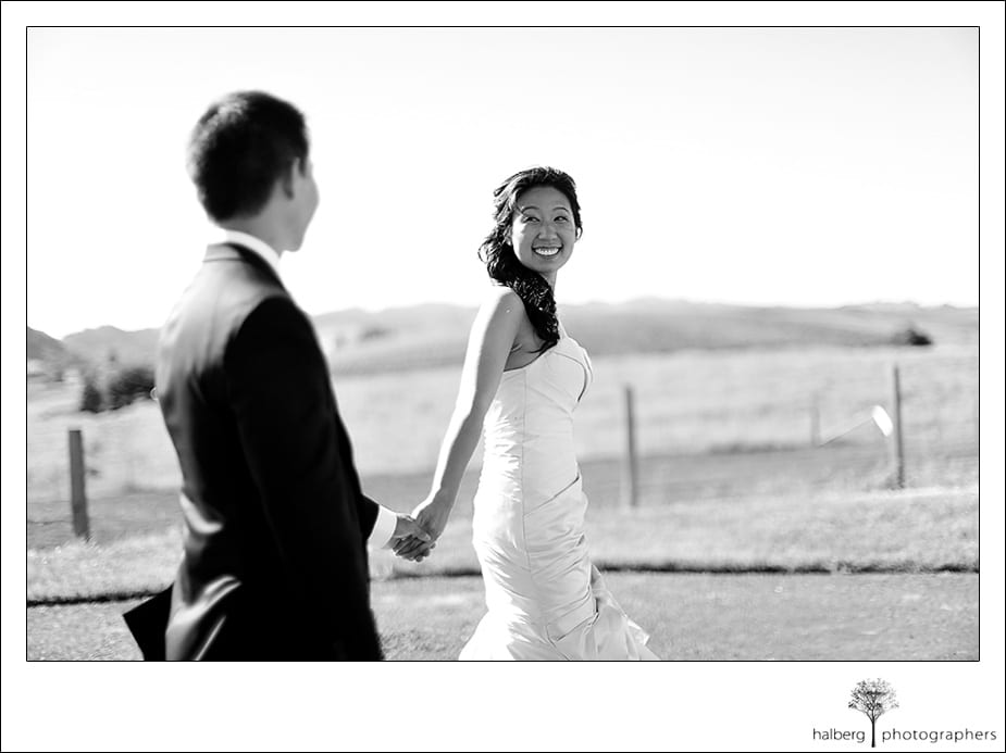 bride getting ready for her wedding at the Carneros Inn