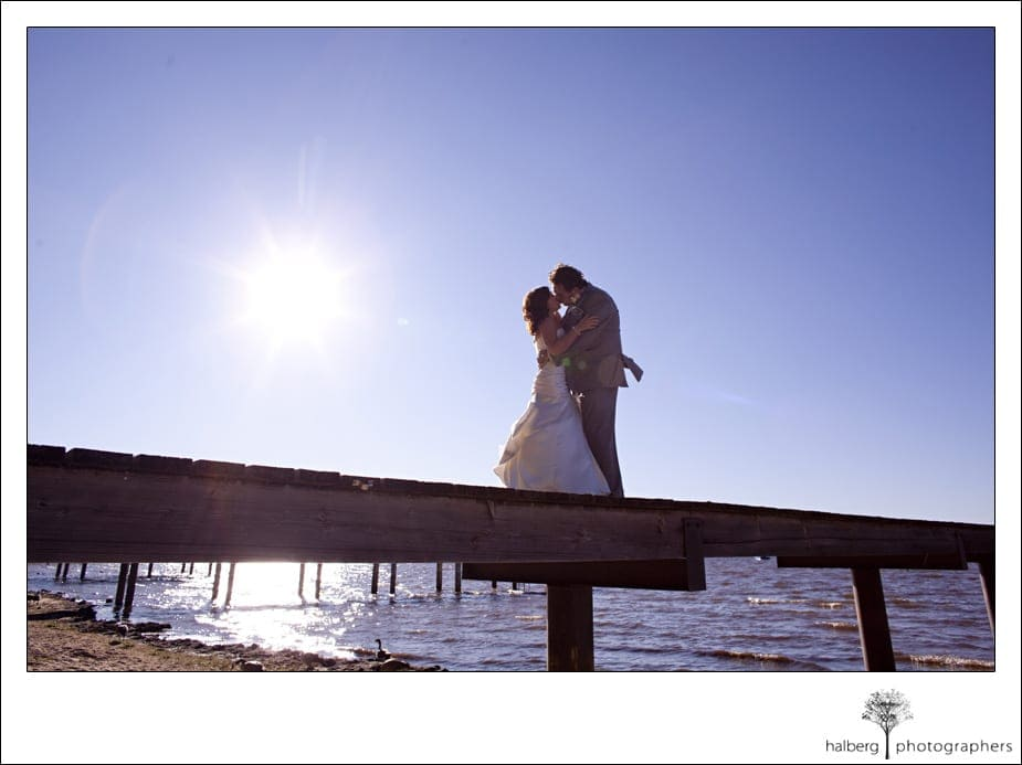 bride and groom at their south lake tahoe wedding