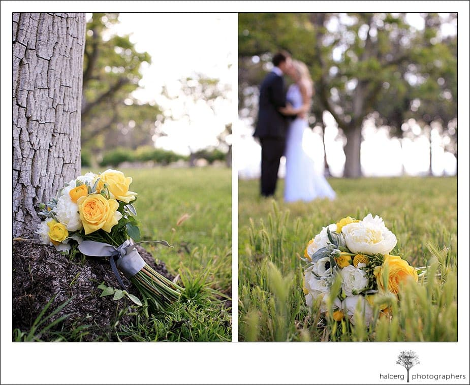 close up pictures of bridal bouquet at the walnut grove in Moorpark