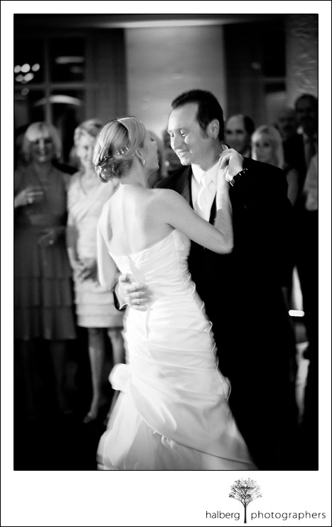 bride and groom first dance at coral casino club wedding