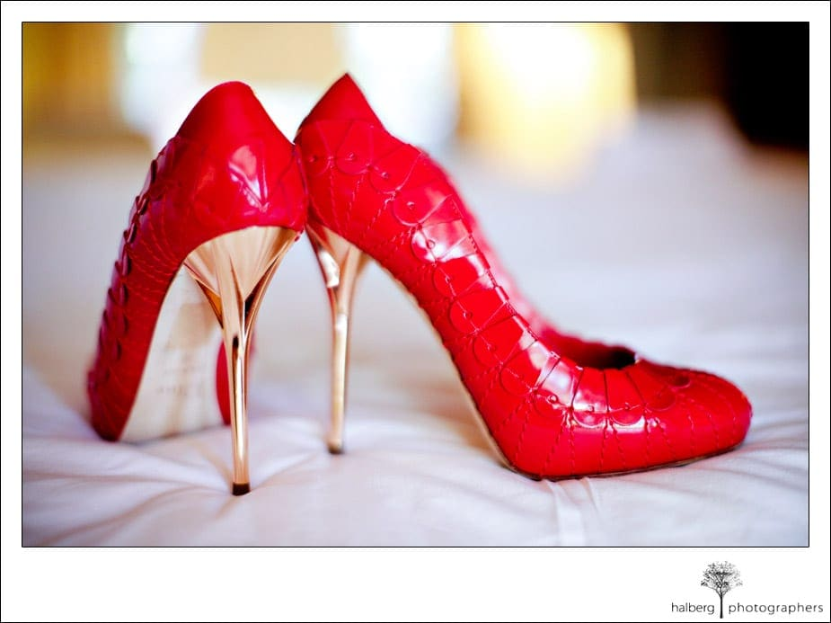 red christian dior wedding shoes