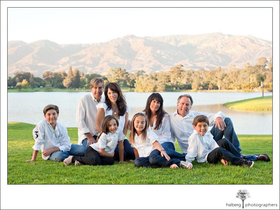 portraits of the reichard family at La Cumbre Country club