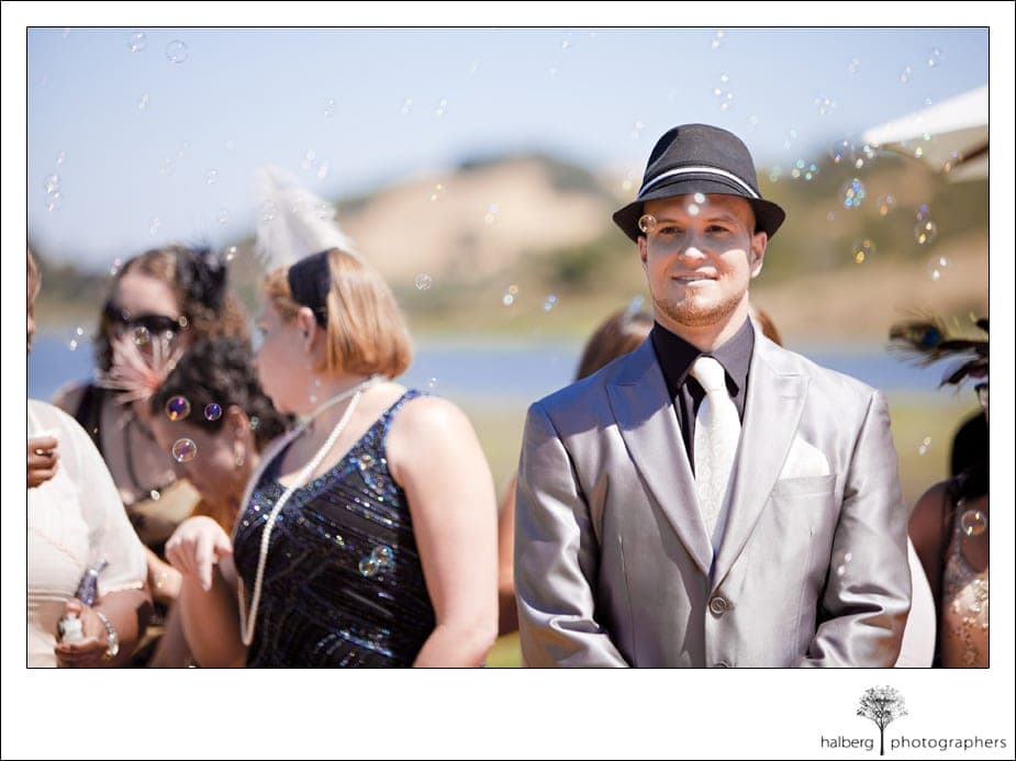 groom waiting for bride at san francisco wedding